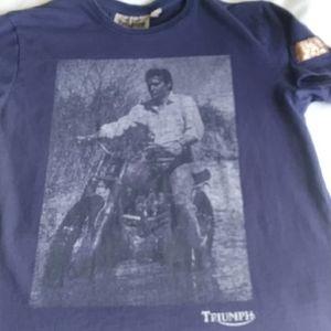 Triumph Elvis Presley Motorcycle t-shirt Med